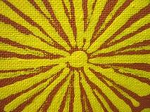 Painted sun Stock Photo