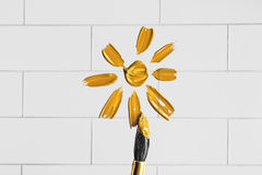 Painted sun Stock Photos