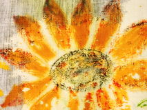Painted sunflower Stock Photos