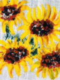 Painted sunflowers pattern Stock Photos