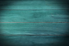 Painted teal planks. Background for various projects Stock Images