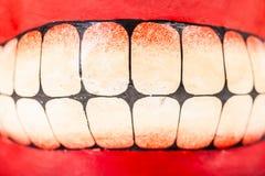 Painted teeth Stock Image