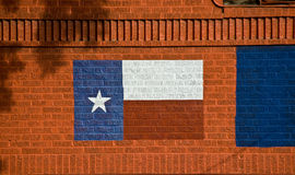 Painted Texas Flag on Brick Wall Royalty Free Stock Photos