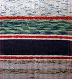 Painted textile background (homespun rug) Royalty Free Stock Photos