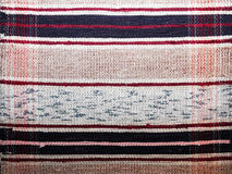 Painted textile background (homespun rug) Stock Photography