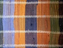 Painted textile background (homespun rug) Royalty Free Stock Photography