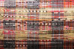 Painted textile background (homespun rug) Stock Photos
