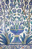 Painted tiles in Topkapi harem of Istanbul Stock Image
