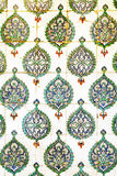 Painted tiles in Topkapi Palace of Istanbul, Turkey Stock Photo