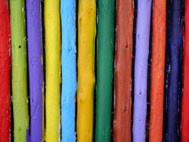 Painted timber. Painted timber in the garden Royalty Free Stock Images