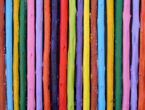 Painted timber. Painted timber in the playground Royalty Free Stock Photo