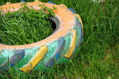 Painted tire Royalty Free Stock Images