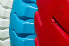 Painted tires Royalty Free Stock Photography