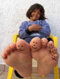 Painted toes royalty free stock images