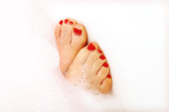 Painted Toes stock photo