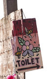 Painted toilet sign Stock Photos