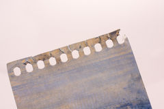Painted torn note paper Stock Photography