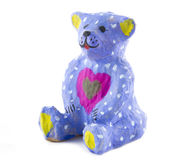 Painted toy bear Royalty Free Stock Photos