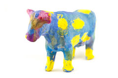 Painted toy cow Royalty Free Stock Images