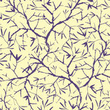 Painted tree brunches seamless pattern background Stock Image