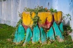 Painted treed树桩 图库摄影