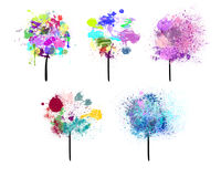 Painted trees Stock Image