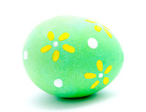 Painted turquoise easter egg isolated Stock Photography