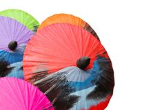 Painted umbrellas Stock Image