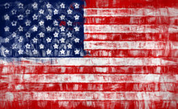 Painted USA flag Royalty Free Stock Image