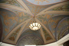 Painted vaulted dome. in a historic building. Stock Image