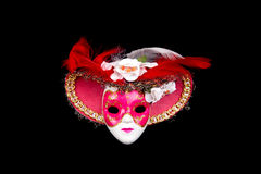 Painted Venice mask isolated on black Stock Photography