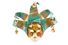 Painted Venice mask isolated on white Stock Photo