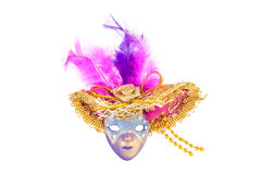 Painted Venice mask isolated on white Royalty Free Stock Images