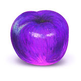 Painted violet plum with work path. Painted violet apple or plum with clipping path isolated on white Royalty Free Stock Images
