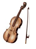 Painted violin Royalty Free Stock Images