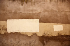 Painted wall. An old painted wall with different colours creating an artistic background Stock Image