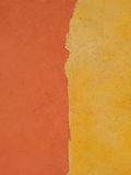 Painted wall. Orange & yellow paining on a wall Royalty Free Stock Photos
