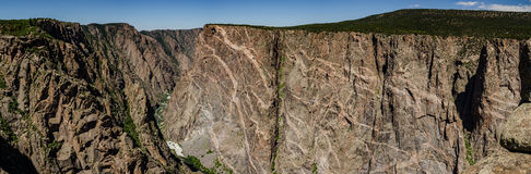 Painted Wall in Black Canyon Panorama Stock Photo