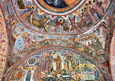 Painted wall fresco Royalty Free Stock Photos