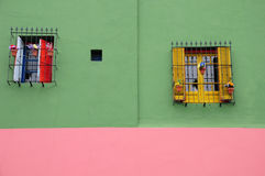 Painted wall of la boca Stock Image