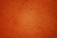 Painted Wall in Ocher Color Royalty Free Stock Image