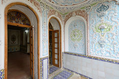 Painted wall, oriental ornaments Royalty Free Stock Images