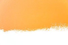 Painted wall's background / orange / real texture Stock Image