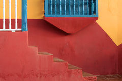 Painted wall and stairs Royalty Free Stock Photo