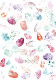 Painted Wallpaper flowers leaves Stock Photography