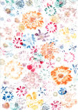 Painted Wallpaper flowers leaves Stock Photos