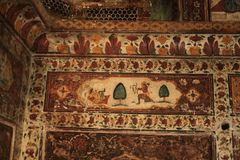 Painted walls at Katas Raj Temples Stock Photography