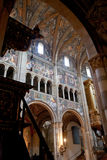 Painted walls of Parma Cathedral, Italy Stock Images