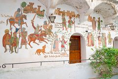 Painted on the walls, Sperlonga Royalty Free Stock Photos