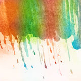 Painted watercolor brush strokes background Royalty Free Stock Photos